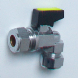 Gas / Water Angled 10mm Isolation Lever Valve - 07000756